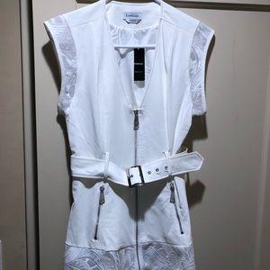 White sleeveless jacket/vest